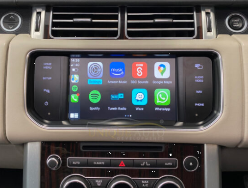 Apple Carplay op Range Rover
